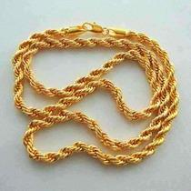 Corrente Revestida Ouro 18k Gold Plated Masculina Importada
