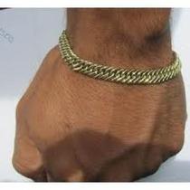 Pulseira Ouro750 18k Oca Grumet/dupla 14grs 19cm