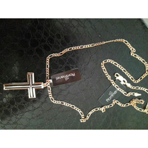 Conjunto Rommanel Masculino Cordão 60cm+crucifixo Folheado