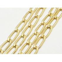 Monreale Corrente Masculina Em Ouro 18k-750 Elo Grumet Longo