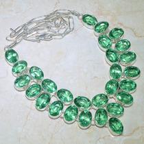 Colar Prata 925 Com Ametistas Verdes Naturais!!!