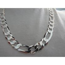 Cordão Corrente Grossa Masculina 70cm 3x1 Em Prata 925