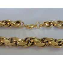 Pulseira Masculina Aço Inox 316 L- Cor: Ouro11mmx20cm