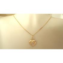 Imperdível Pingente Coração Inicial Nome Ouro 18k Garantia