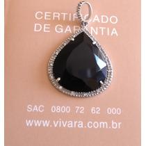Ivi1388 = Pingente Vivara O.branco 18k !grande Diamantes!!!