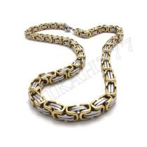 Corrente/cordão Masculino Aço Inox 316l Prata/ Ouro 8mm 70cm