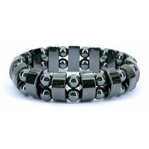 Pulseira / Bracelete Masculino Elástico Pedra Hematita