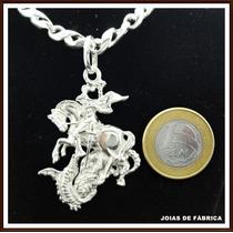 Pingente São Jorge Em Prata 950 Frete Grátis