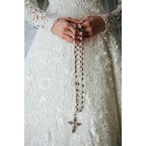 Terço De Noiva Casamento Pérola