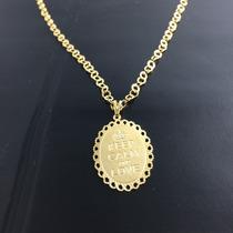 Promoção Colar Gargantila Folheado Em Ouro 18k C/ Pingente