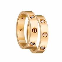 Alianças Cartier Concept Em Ouro 18k E Diamantes