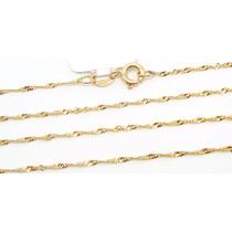 Corrente Colar Singapura 45cm De Ouro 18k-750- Frete Grátis
