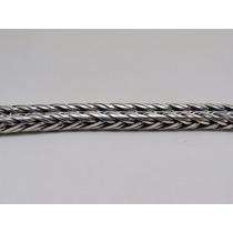 Cordão De Bali Trançada 6mm X 75cm Em Prata 925