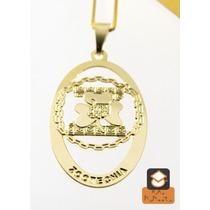 Colar Zootecnia - Folheado Em Ouro (garantia 1 Ano)