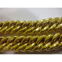 Pulseira Modelo Grumet Duplo Com 30gramas De Ouro 18k 750