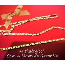 Cordão Fino Folheado A Ouro 18k 60cm! Garantia 6 Meses