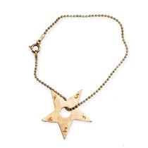 Pulseira Estrela Da Sorte - Tuca Ahlin - Prata 950k Banhado