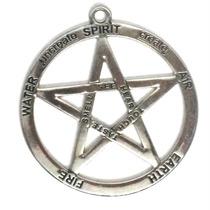 Cordão Colar Pentagrama Grande Wicca Supernatural Proteção
