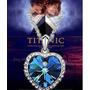 Colar Femino Titanic Coração Rose, Semi Joias Luxo