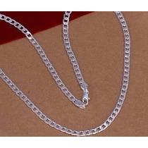 Corrente Cordão Masculino 55cm 4mm Em Prata 925 Sterlina Top