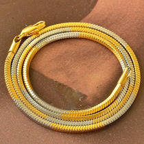 Corrente Ouro Branco Amarelo 9k Filled Gold 52cms - 3mm.