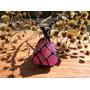 Colar Hippie De Pedra Semi Preciosa Ágata Rosa