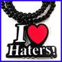 Colar I Love Haters Goodwood, Temos Diamond,chicago Bulls