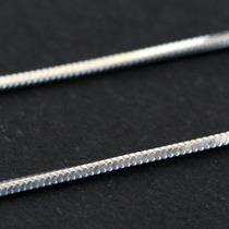 Corrente De Prata 925 Rabo De Rato 40cm / 1mm