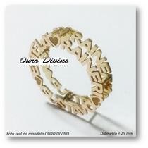 Pingente Mandala C Corrente Ouro 18k Personalizado Diamantes