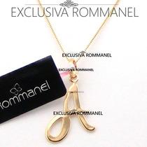 Rommanel Gargantilha Pingente Com Letra A Nome 540675 531315