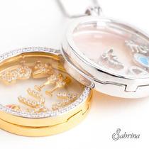 Capsula My Soul -corrente 45cm Banhado A Ouro C/ 4 Pingentes