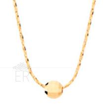 Rommanel Gargantilha Bola Diamantada Folheado A Ouro 530484