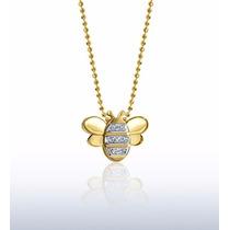 Pingente Borboleta Em Ouro 18 Quilate E Diamantes S/corrente