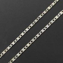 Cordão Piastrine Masculina 60cm Em Prata 925