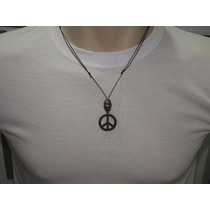 Cordão Masculino E Feminino Simbolo Da Paz +brinde