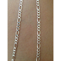 Cordão Prata 925 Masculino - Corrente Fígaro 3/1 Fino
