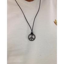 Colar Pingente Símbolo Da Paz