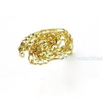 Corrente Figaro Ouro Amarelo 18k-750!frete Grátis