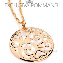 Rommanel Corrente E Mandala Vazada Folheada Ouro 541497
