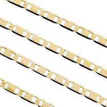 Cordão Piastrine Maciça Em Ouro 18k-750 Frete-grátis