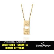 Escapulario Infantil Medalha Anjo Folheado Rommanel 531579