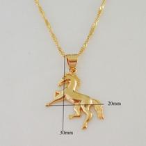 Colar Monreal Cavalo Da Sorte Ouro 18k --promoçao