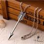 Colar Princesa Merida Valente - Flecha - Prata Antiga