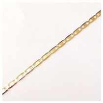 Colar Corrente Gargantilha Feminina Piastrine 45cm Ouro18k