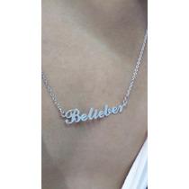 Belieber - Justin Bieber - Colar Belieber