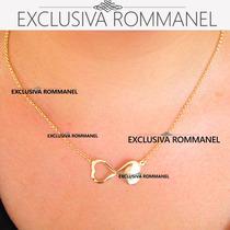 Rommanel Gargantilha Corrente Colar Feminina Ouro 18k 531117