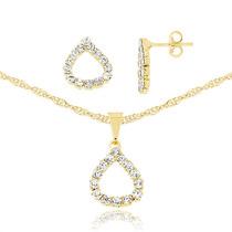 Gargantilha Feminina Em Ouro 18k Pingente Cristal Swarovski