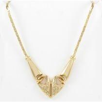 Esfinge Jóias - Corrente Coração Com Diamantes Ouro 18k 750.
