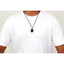 Corrente Masculina Cordão Pedra Lapis Lazuli