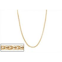 Corrente Ouro Folheado T Formato Cilíndrico Rommanel 531133